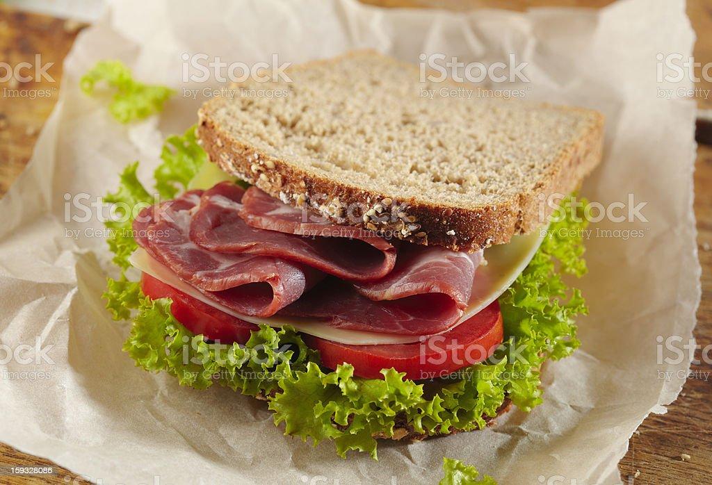 fresh deli sandwich royalty-free stock photo