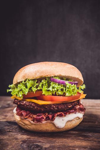 istock Fresh delicious burger 1066084682