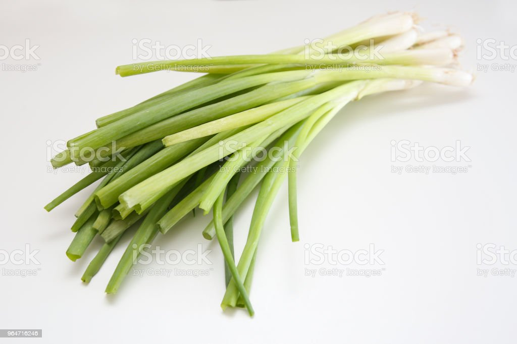 Fresh delicious chives royalty-free stock photo
