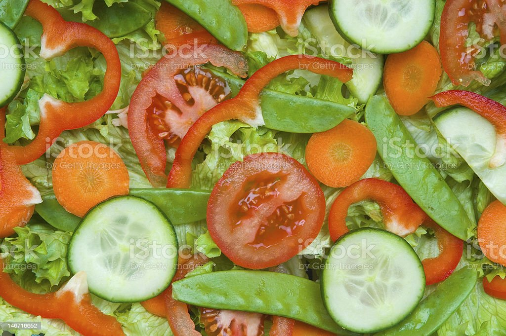 Fresh delicious salad      (© Lobke Peers) royalty-free stock photo