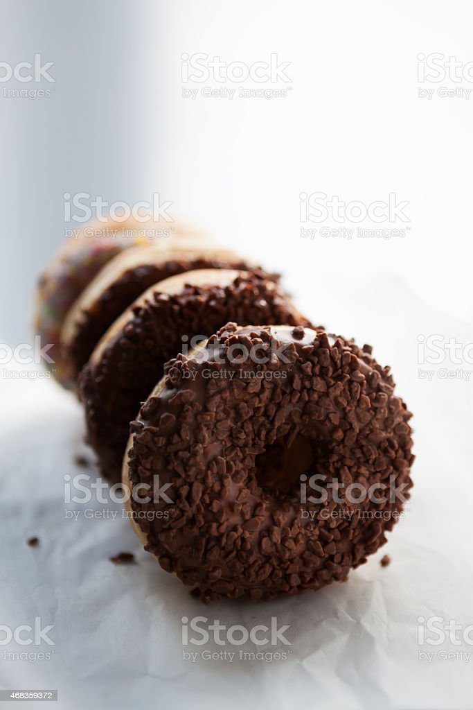 Fresh doughnuts royalty-free stock photo