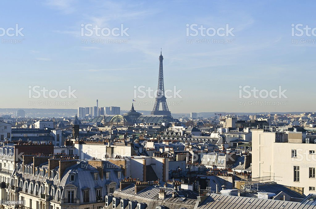Fresh early morning in Paris stock photo