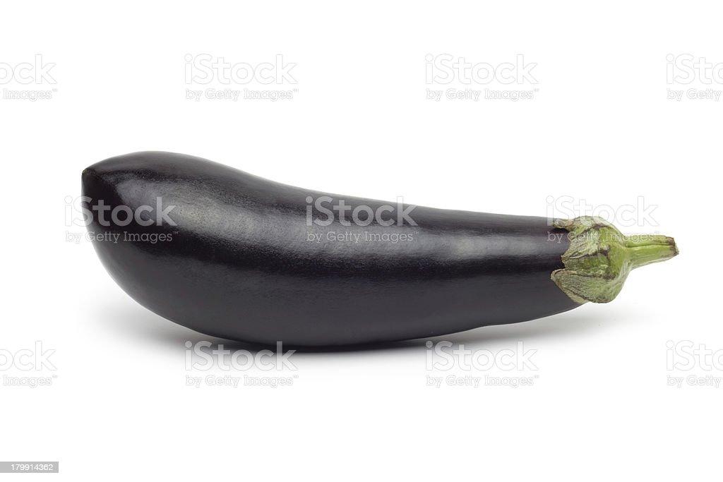 Fresh eggplant isolated on white royalty-free stock photo