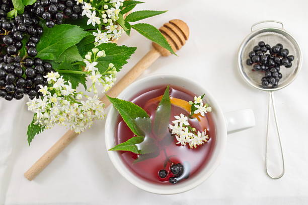 Fresh elderberry tea