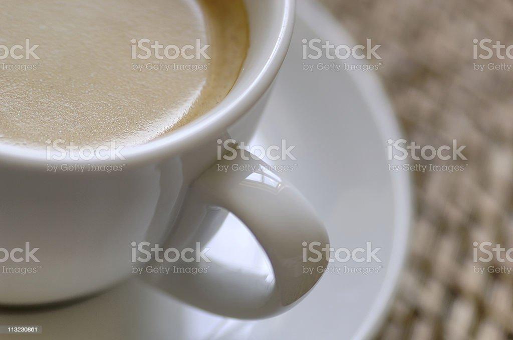 fresh espresso coffee with caramel layer royalty-free stock photo