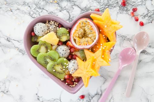 Fresh exotic fruit salad