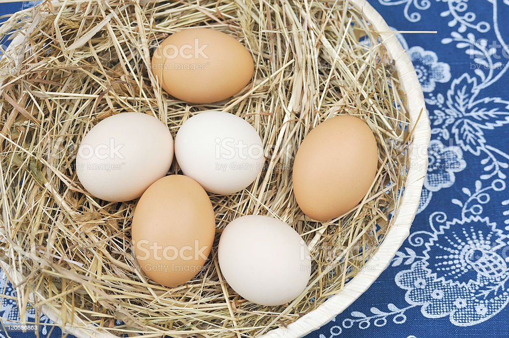 Fresh farm eggs royalty-free stock photo