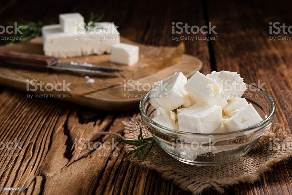 Fresh Feta Cheese stock photo