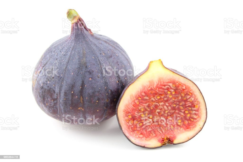 fresh fig fruits isolated on a white background royalty-free stock photo