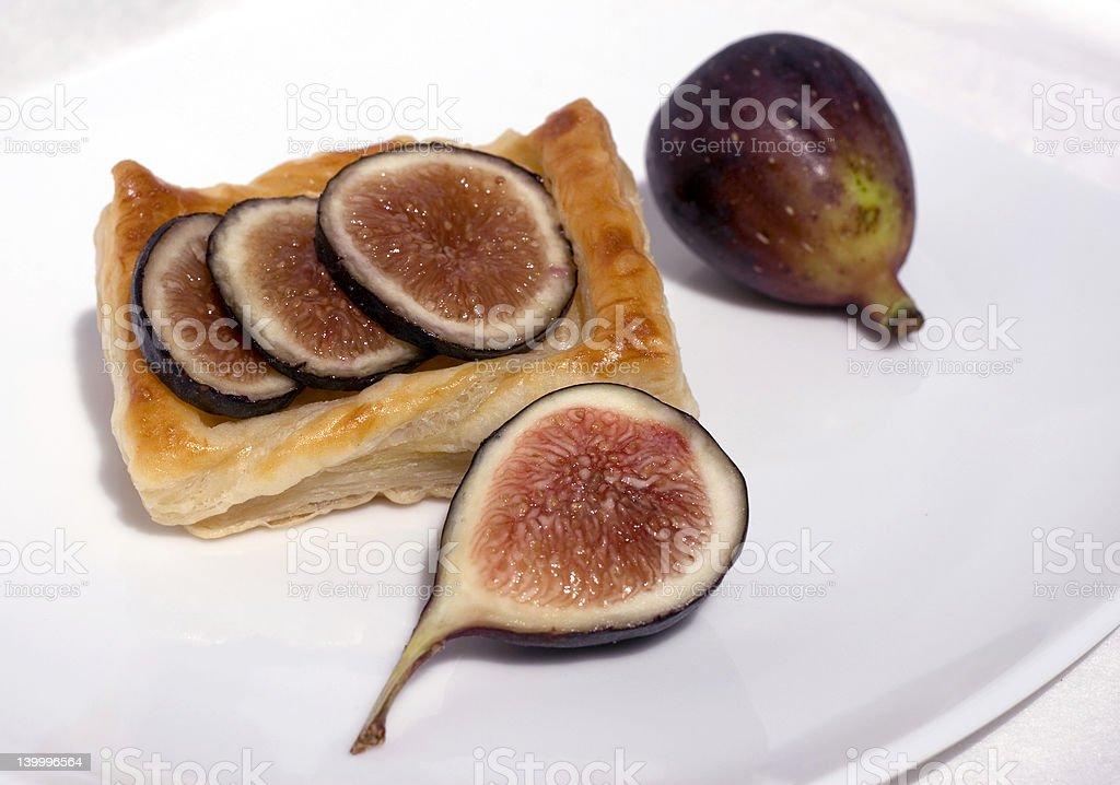 Fresh Fig Tart stock photo