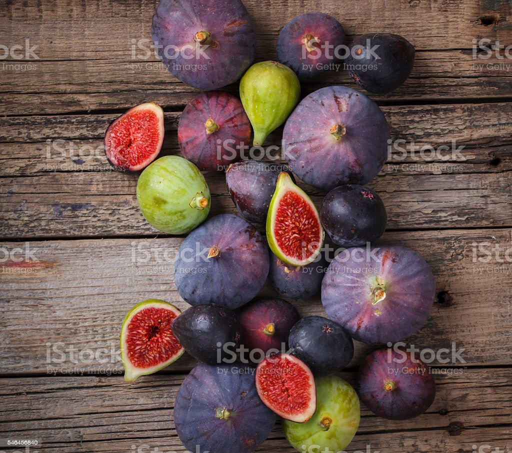 Fresh figs in different grade stock photo