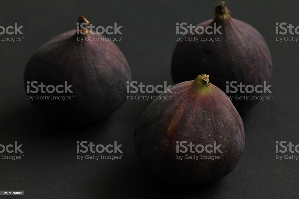 Fresh figs isolated on black royalty-free stock photo