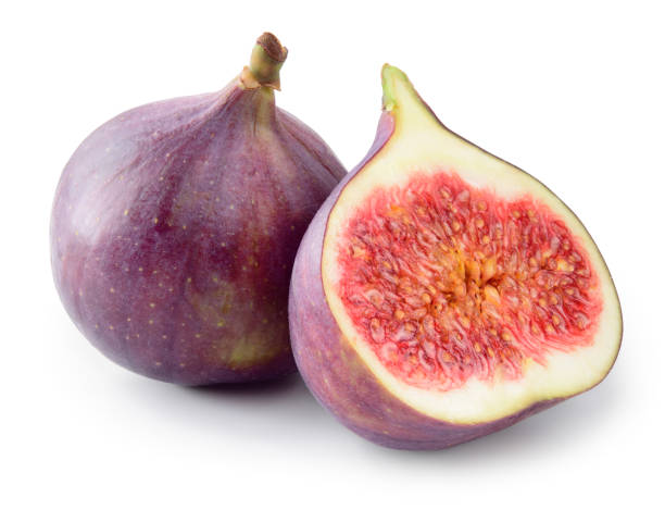 fresh figs isolated on white background. with clipping path. - figue photos et images de collection