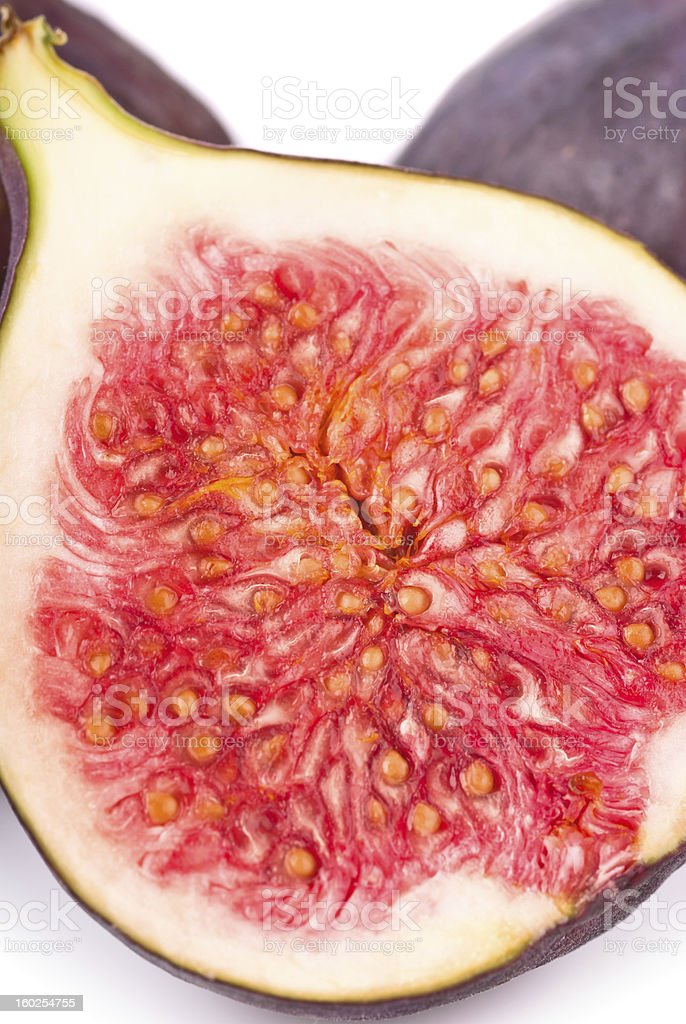 Fresh figs macro royalty-free stock photo