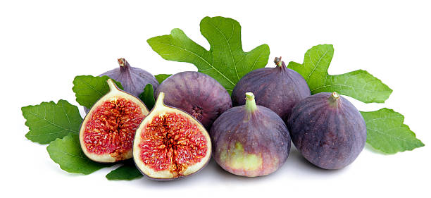 fresh figs with leaves. - figue photos et images de collection