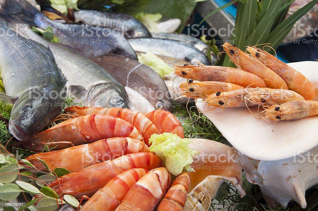 Pescados y mariscos - Foto de stock de Alimento libre de derechos