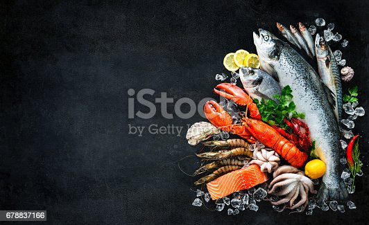 istock Fresh fish and seafood 678837166