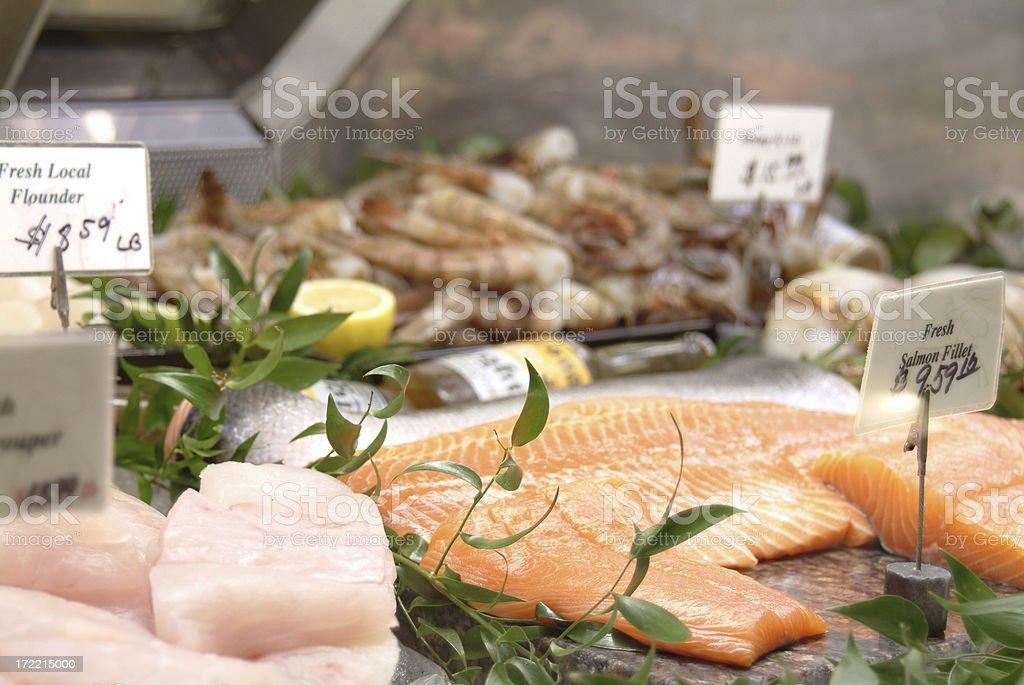 Fresh Fish Case royalty-free stock photo