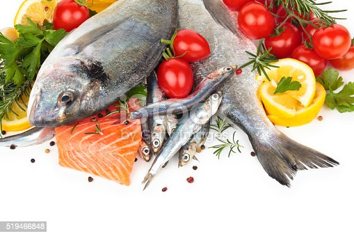 istock Fresh fish collection. 519466848