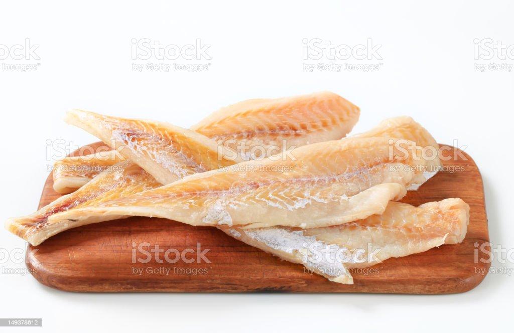 Filés de peixe fresco - foto de acervo