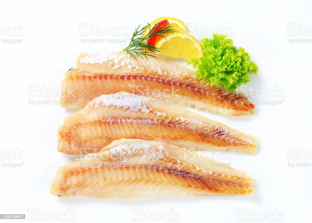 Fresh fish fillets stock photo