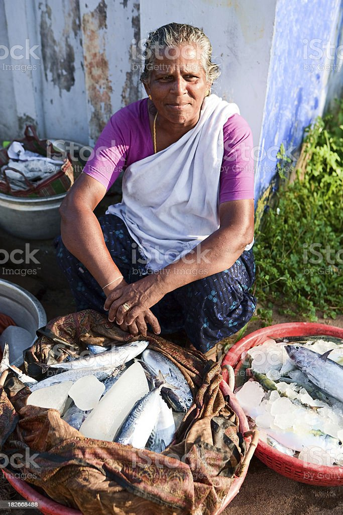 Fresh fishes for sale royalty-free stock photo