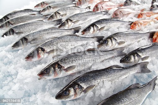 Fresh fishes on market display