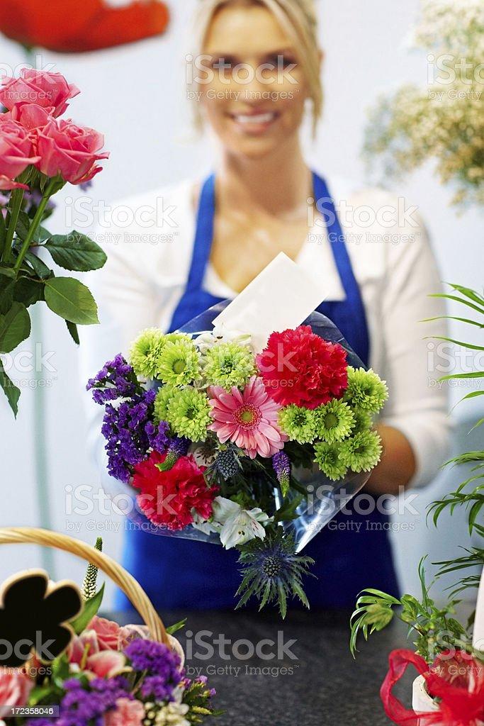 Un ramo de flores frescas para foto de stock libre de derechos