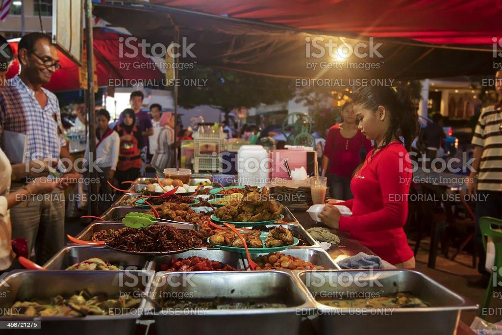 Fresh food at Kota Kinabalu market stock photo