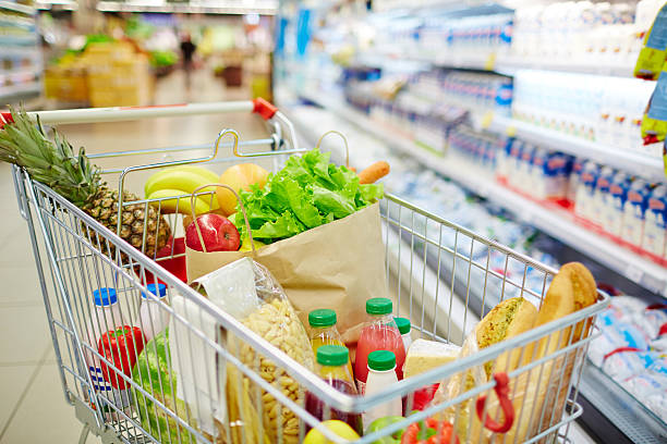 Fresh food products stock photo