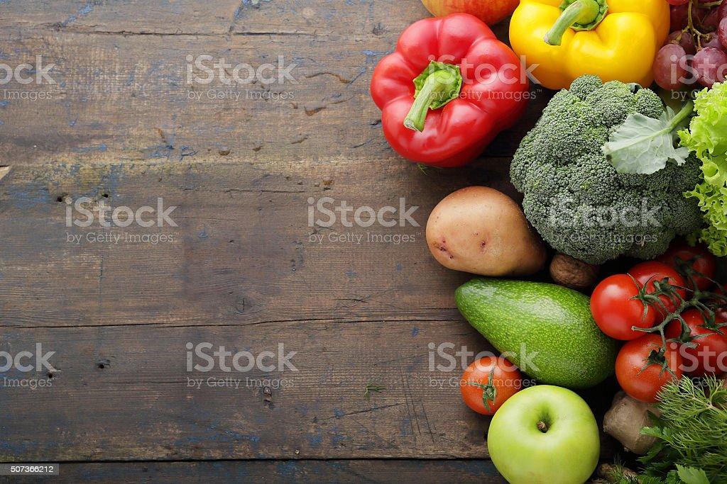 fresh food rustic background stock photo