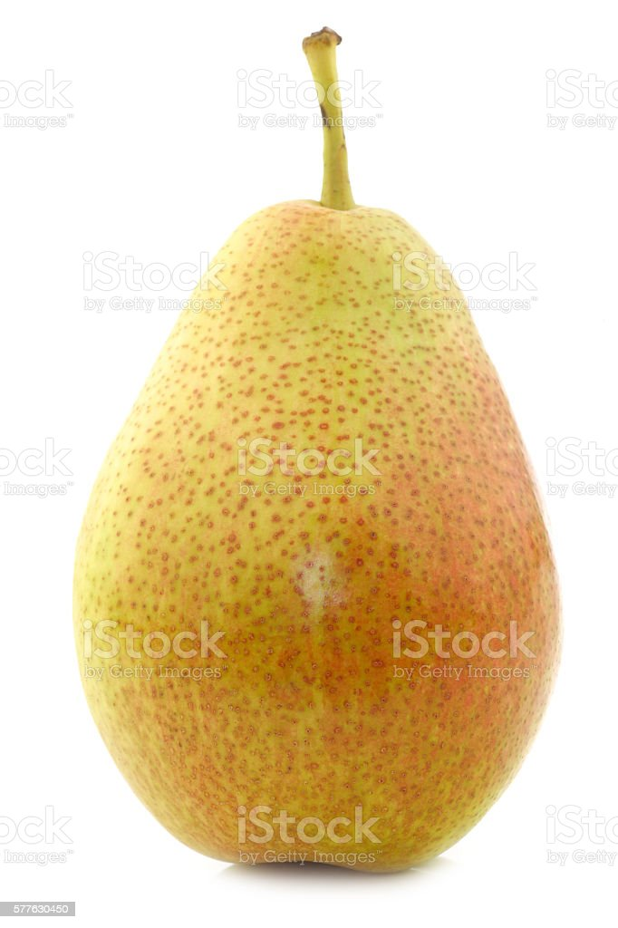 fresh 'Forelle' pear stock photo