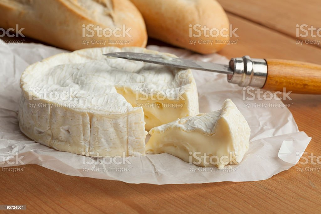 Fresh  French camembert stock photo