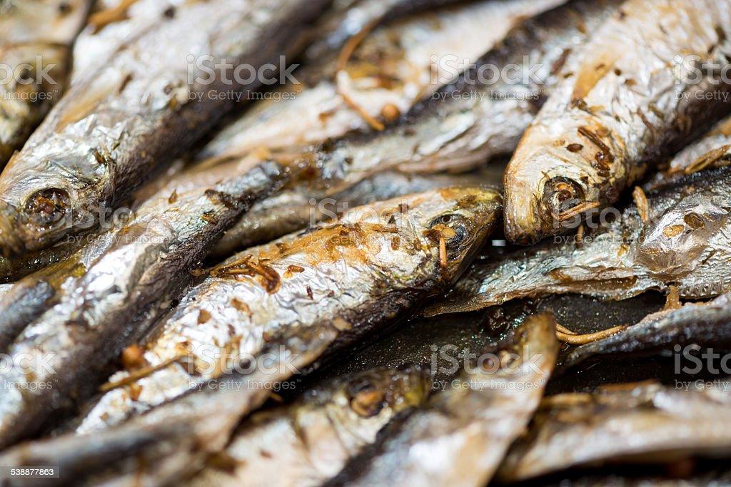 Fresh Fried Smelts stock photo