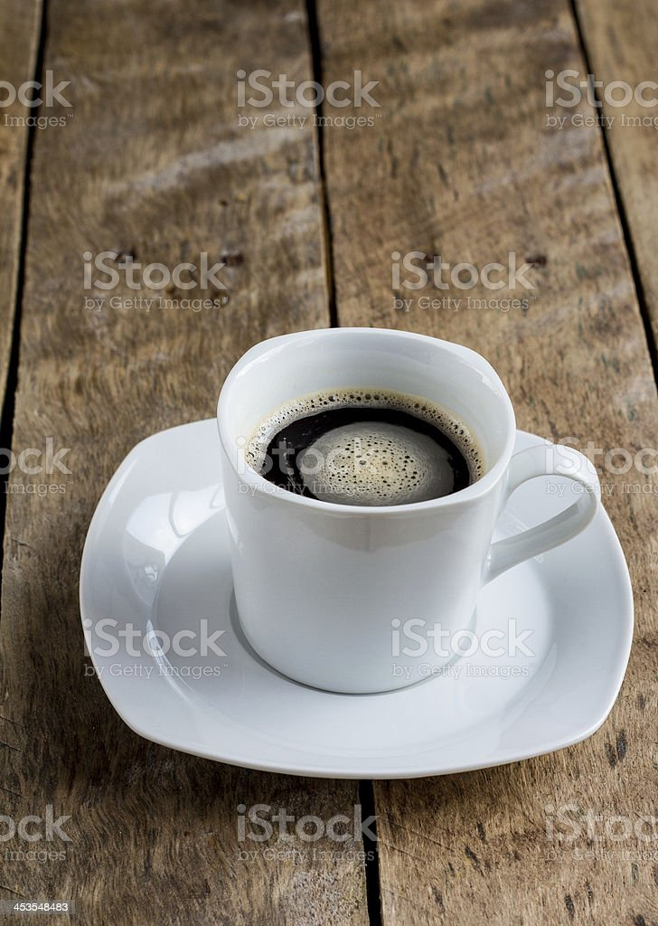 Fresh Frothy Coffee. royalty-free stock photo