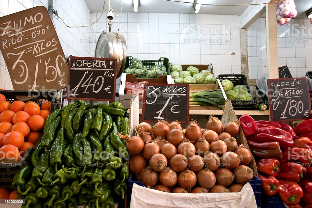 Fresh fruit and veg royalty-free stock photo
