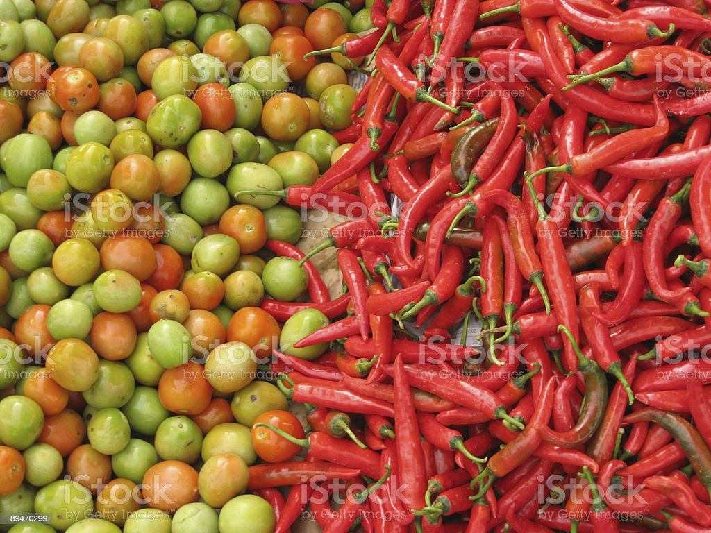 fresh fruit and vegetables market royalty-free stock photo