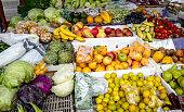 CHARAPOTO, MANABI, ECUADOR, CIRCA Decemeber 03 2017  Sunday fresh food Market in Charapoto, Manabi, Ecuador Circa Dec 03  2017. Sunday markets are an important part of life in present day ecuador.