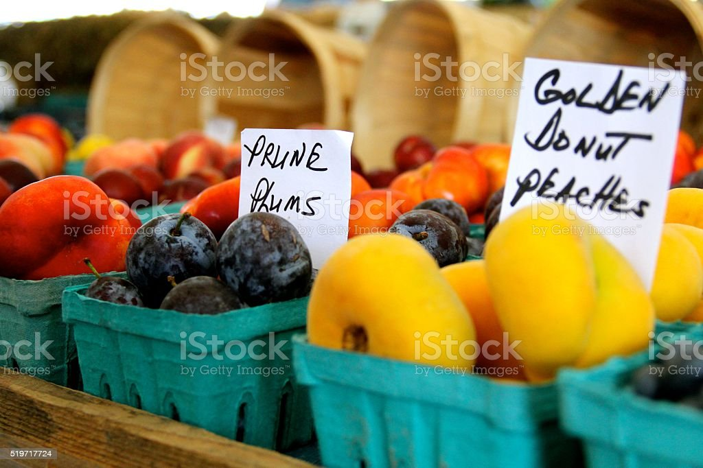 Fresh Fruit For Sale stock photo
