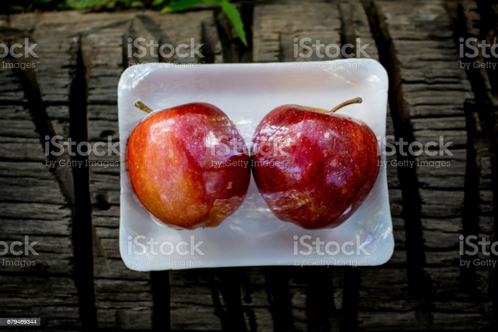 Fresh Fruit in A Pack, Apple and Lemon 免版稅 stock photo