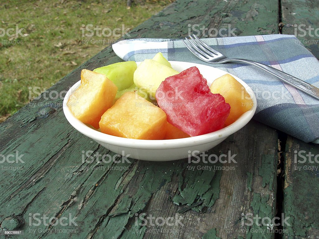 Fresh Fruit on Breakfast Table - Food royalty-free stock photo
