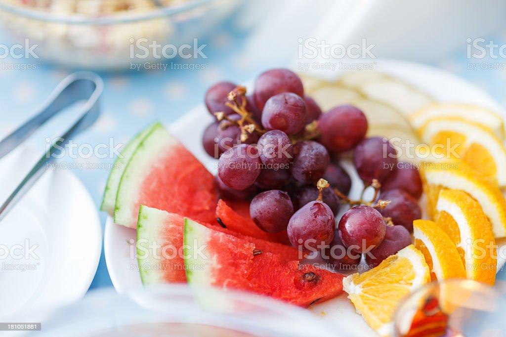 Fresh fruit plate royalty-free stock photo