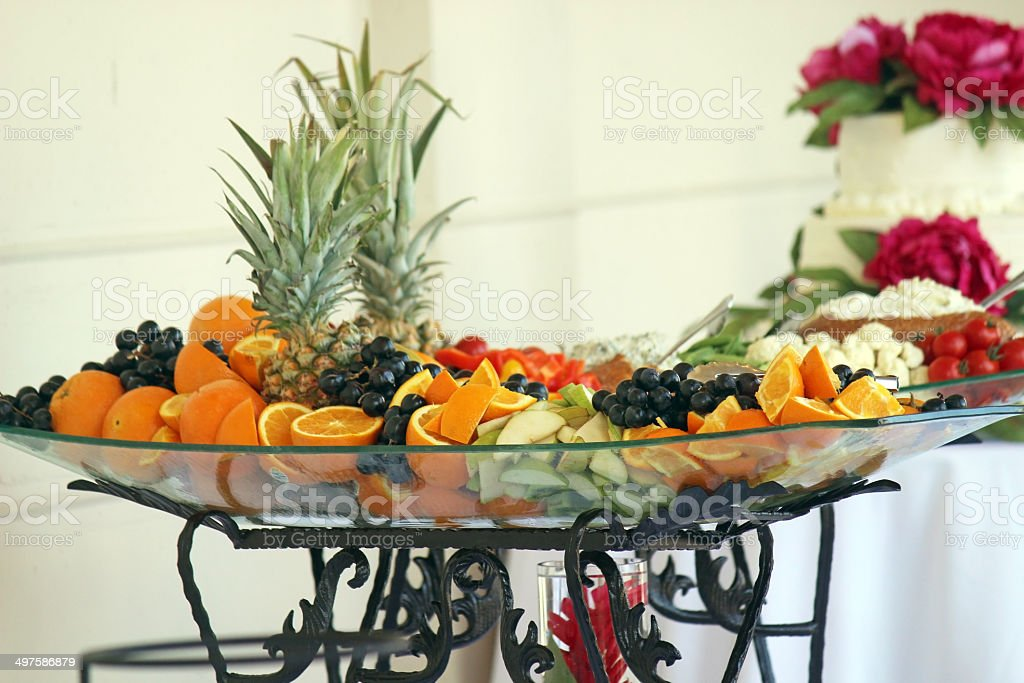 Fresh Fruit Platter At Wedding Reception Stock Photo & More Pictures ...