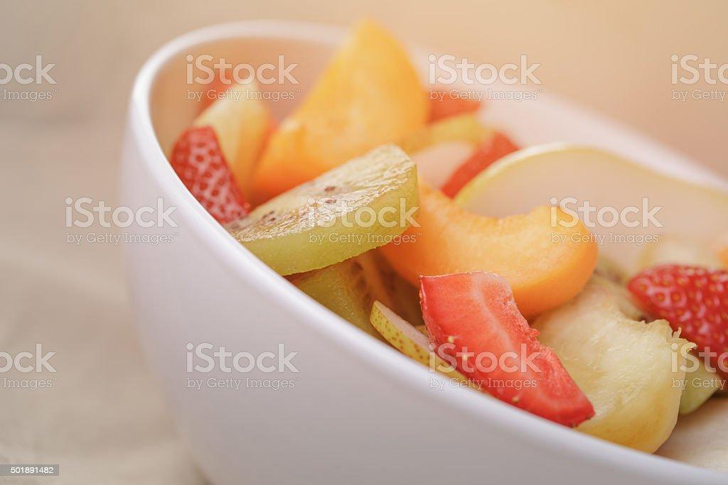 fresh fruit salad closeup photo stock photo