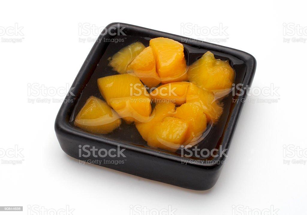 Fresh fruit salad on the black bowl royalty-free stock photo