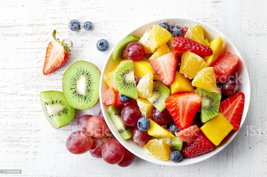 Fresh fruit salad stock photo