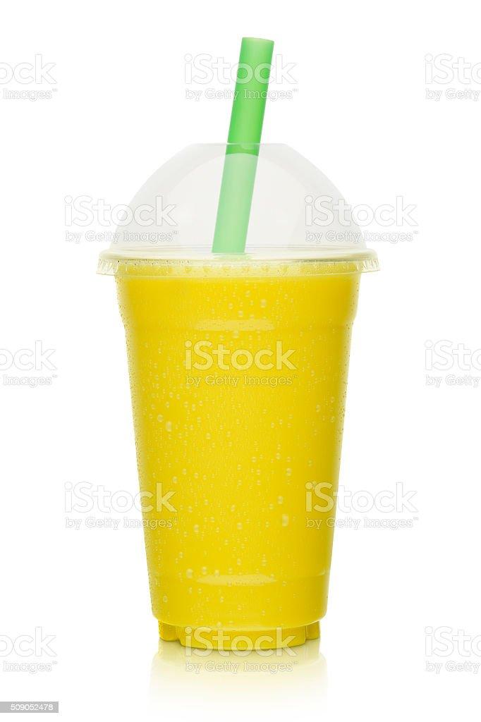 fresh fruit smoothie, shake isolated stock photo