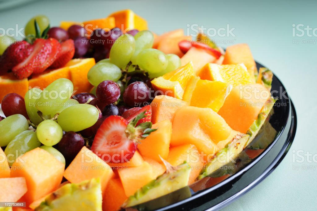 Bandeja de frutas frescas - foto de acervo