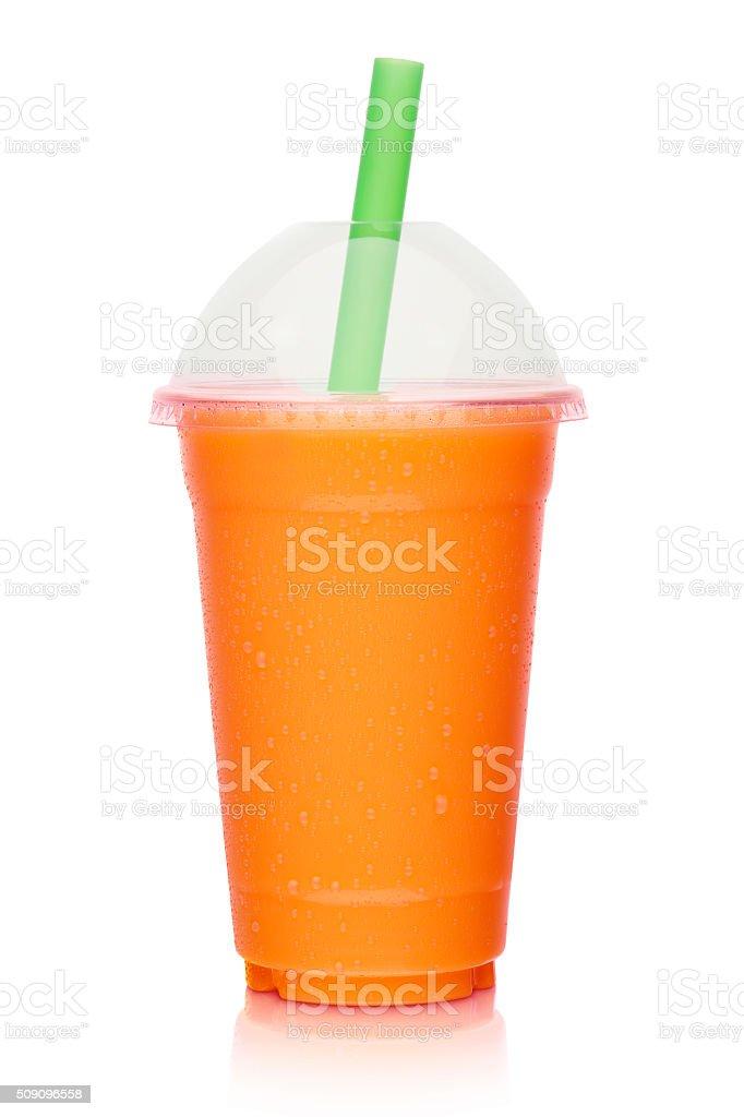 fresh fruit vegetable smoothie, shake isolated stock photo