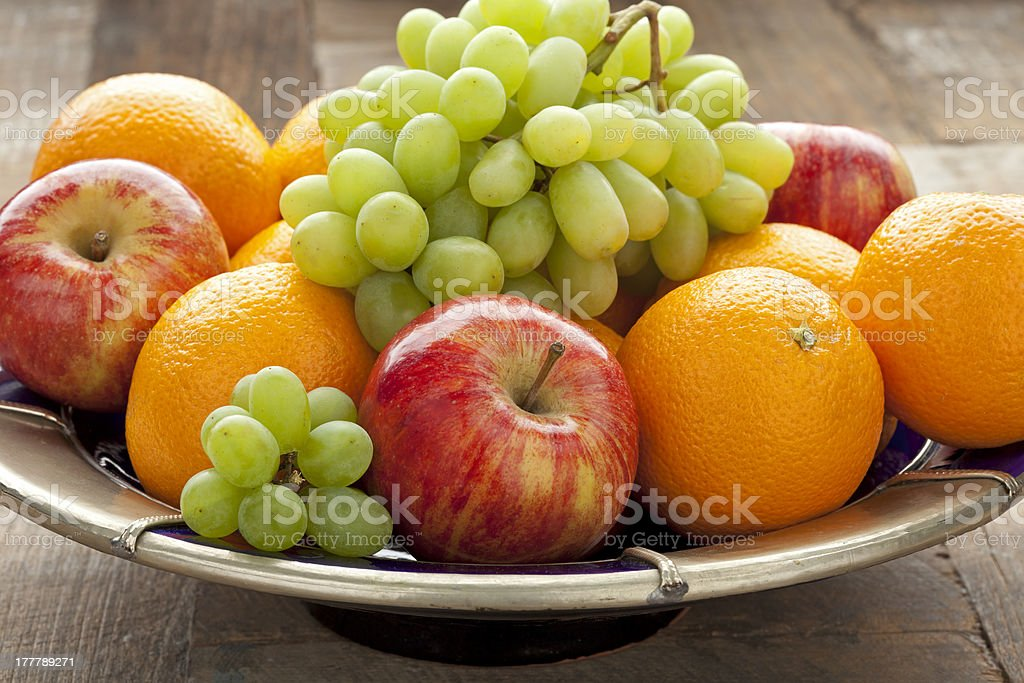 Fresh fruitbowl stock photo